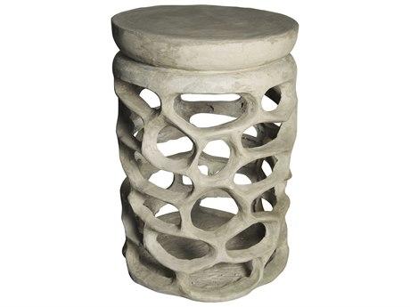 Noir Furniture Fabbro Fiber Cement 17.5'' Round Drum Table