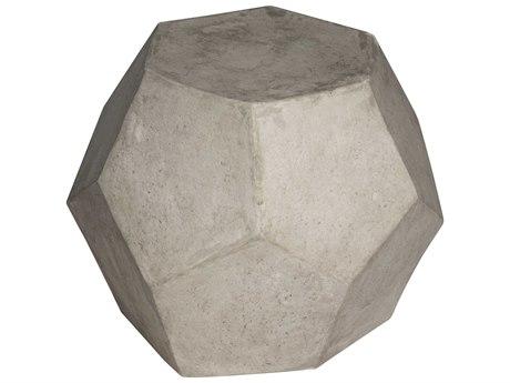 Noir Furniture Geometry Fiber Cement 23'' Octagonal Drum Table & Stool