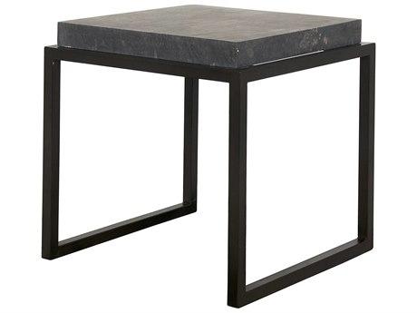 Noir Furniture Black Marble 19.5'' Square Side Table