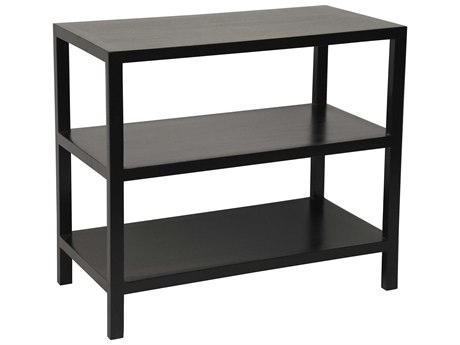 Noir Furniture Living Room Accents Hand Rubbed Black 28'' Wide Rectangular End Table
