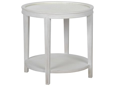 Noir Furniture Living Room Accents White Wash 26'' Wide Round End Table