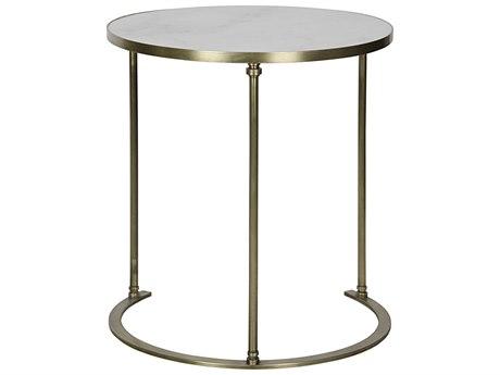 Noir Furniture Molly A Metal & Quartz 26.5'' Round Foyer Table