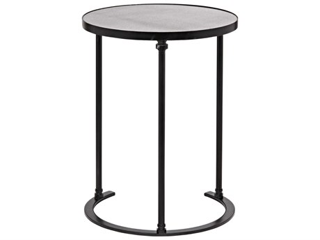 Noir Furniture Molly B Metal & Stone 18.5'' Round Side Table