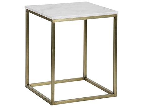 Noir Furniture Manning Antique Brass 20.5'' Square Large Side Table