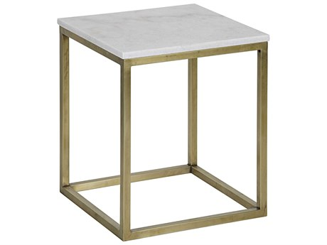 Noir Furniture Manning Antique Brass 16.5'' Square Small Side Table