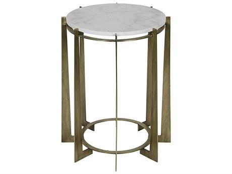 Noir Furniture Hebert Antique Brass 22.5'' Round Side Table