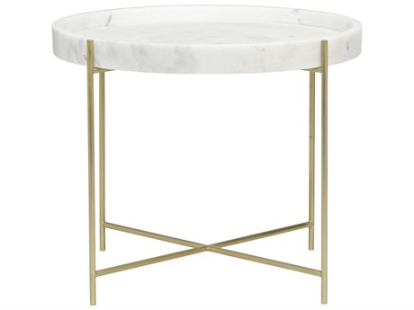 Noir Furniture Chuy Antique Brass 25'' Round Side Table