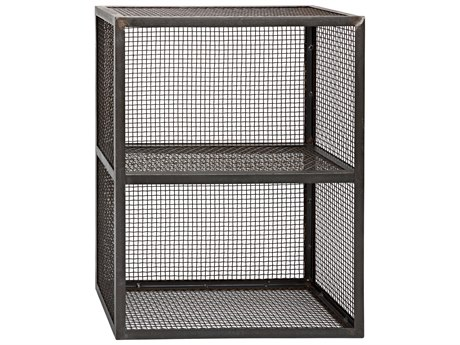 Noir Furniture Metal 24'' Wide Rectangular Perpendicular End Table