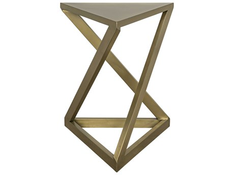 Noir Furniture Orpheo Antique Brass 19'' x 19 Side Table
