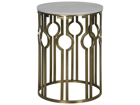 Noir Furniture Natine Antique Brass 21'' Round Foyer Table NOIGTAB648MB