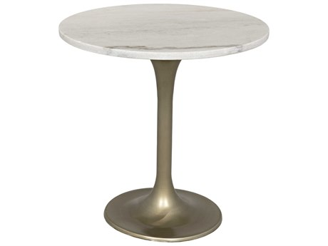 Noir Furniture Laredo Table Antique Brass 20'' Round Pedestal Table NOIGTAB514MB20