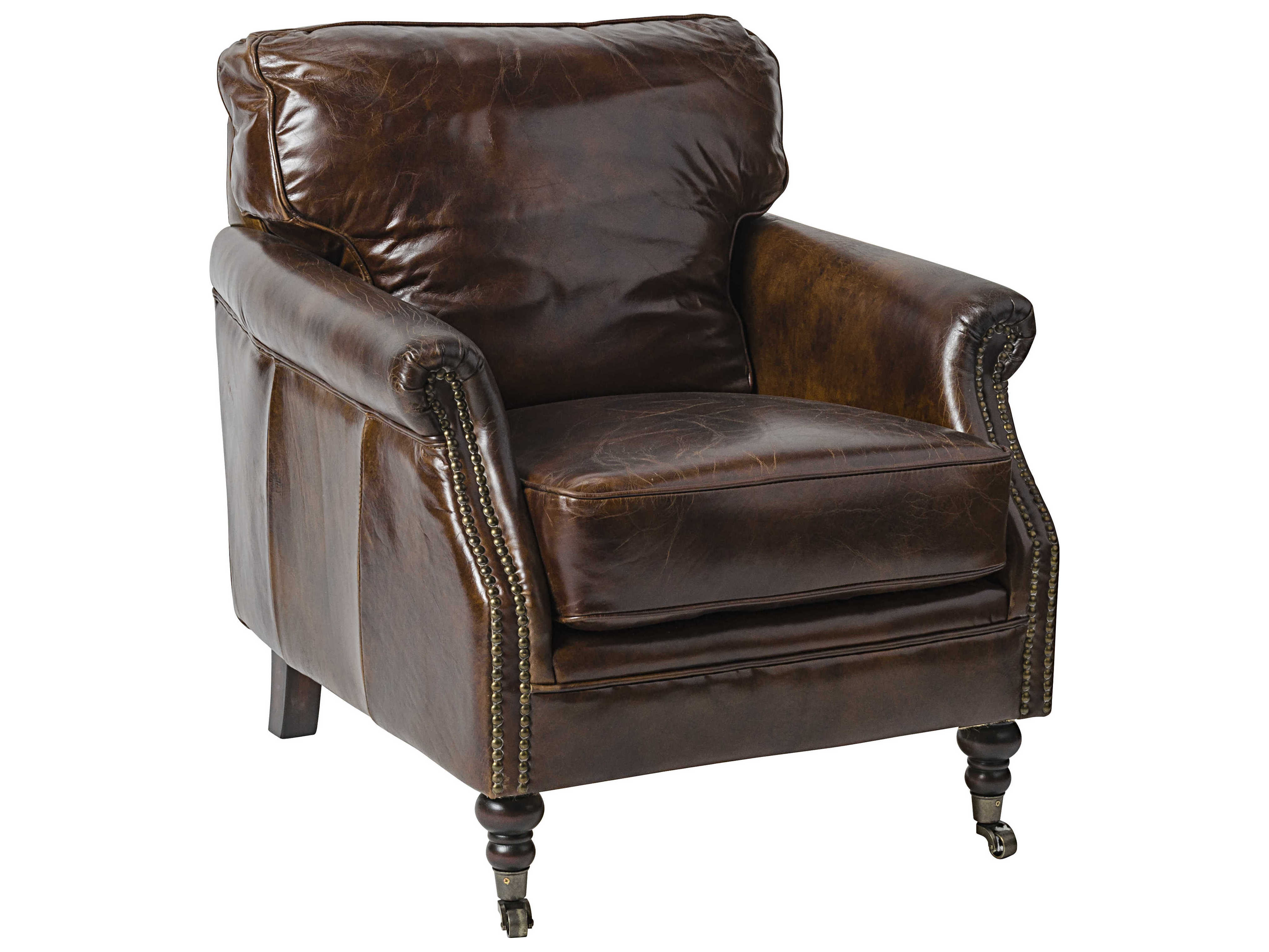 Noir Furniture 916 Vintage Leather Club Chair Noilea916
