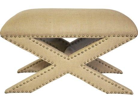 Noir Furniture Living Room Essentials Burlap And Birch / Burlap Ottoman