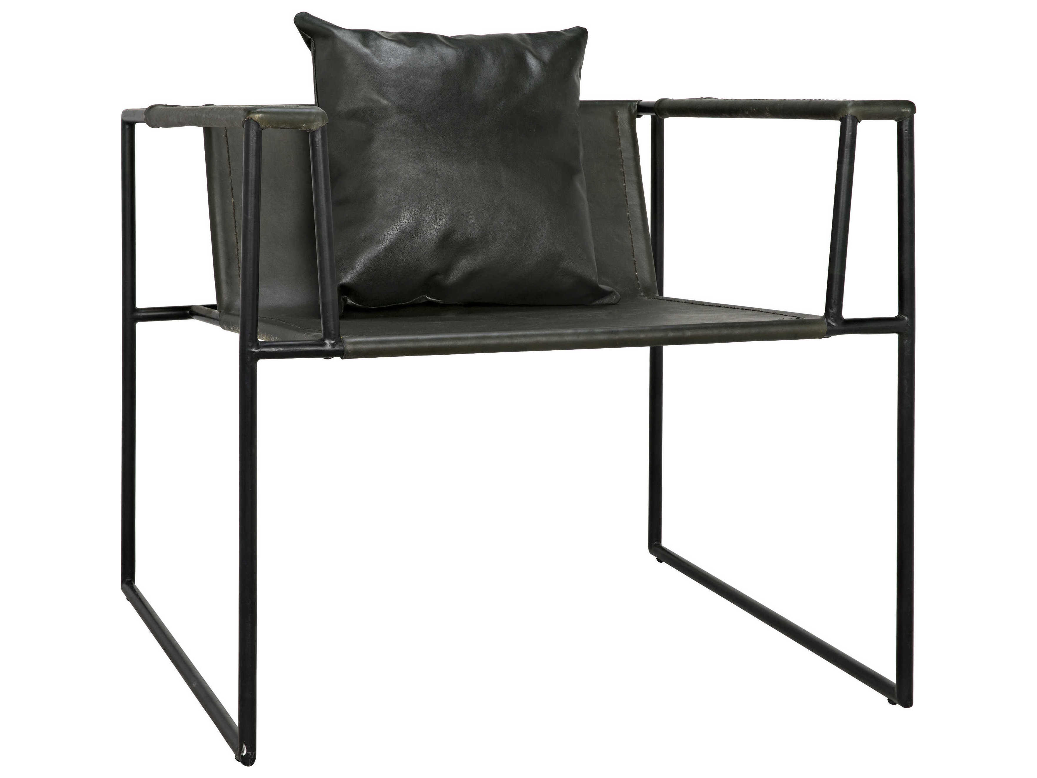 Wondrous Noir Furniture Reinhold Black Leather Accent Chair Ocoug Best Dining Table And Chair Ideas Images Ocougorg