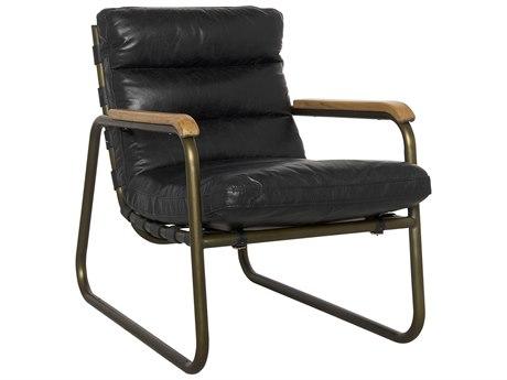 Noir Furniture Cowhide Arm Black Accent Chair
