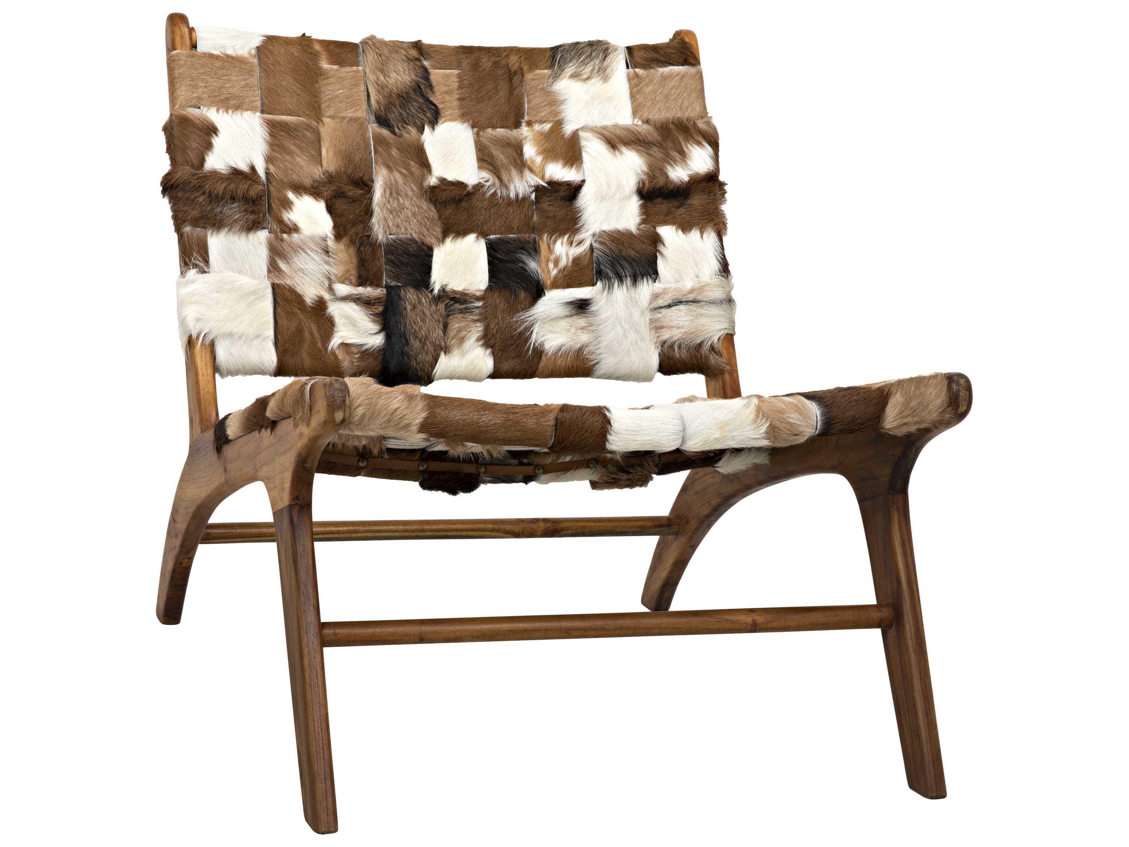 Noir Furniture Kamara Cowhide Accent Chair