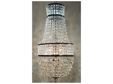 Noir Furniture Hand Rubbed Brown 20'' Wide Glass Mini Chandelier