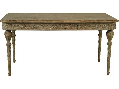 Noir Furniture Paris Grey Wash 60'' x 30'' Secretary Desk