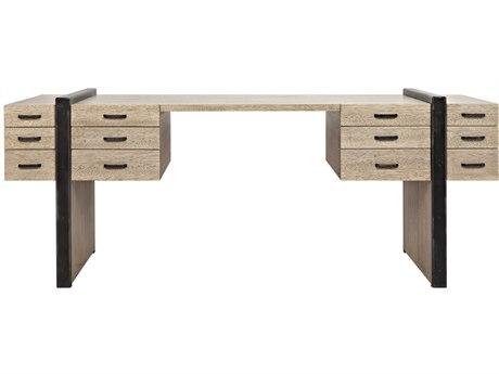 Noir Furniture Bartholomieu Washed Walnut 82'' x 30.5'' Secretary Desk
