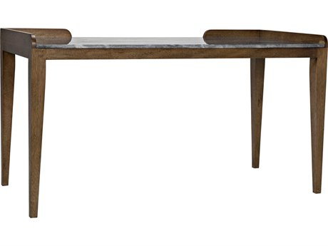 Noir Furniture Wod Ward Dark Walnut & Stone 60'' x 27.5'' Secretary Desk