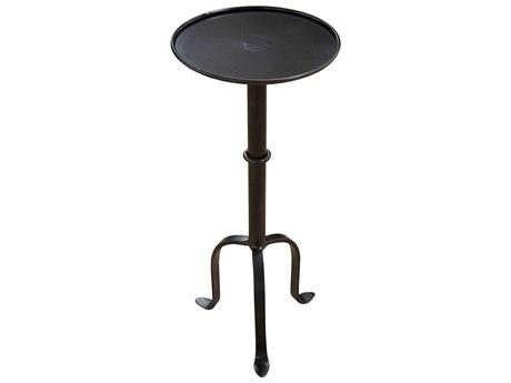 Noir Furniture White Wash 10'' Wide Round Pedestal Table