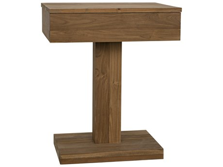 Noir Furniture 23'' Wide Rectangular Pedestal Table