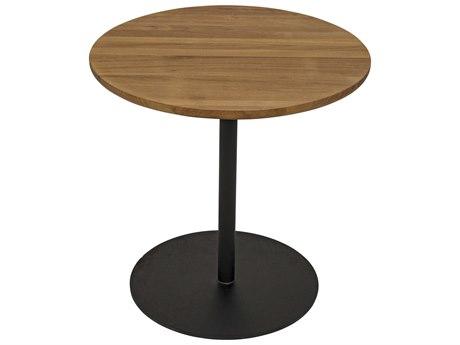 Noir Furniture Gold Teak 20'' Wide Round Pedestal Table