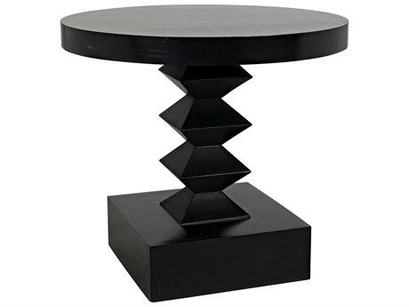 Noir Furniture Old Wood 30'' Wide Round Pedestal Table
