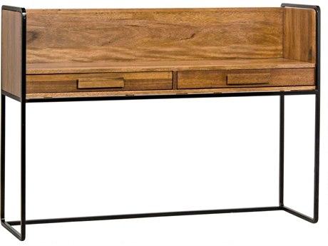 Noir Furniture Hand Rubbed Black Secretary Desk