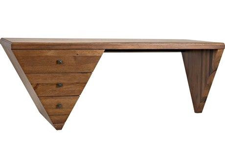 Noir Furniture Distressed Black Secretary Desk