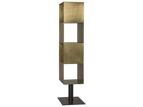 Noir Furniture Shelving Units Antique Brass Tara Etagere