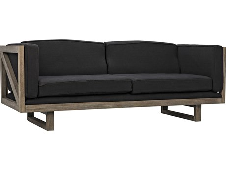 Noir Furniture Distressed Grey Sofa Couch