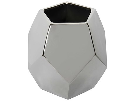 Noir Furniture Silver Ceramic Vase