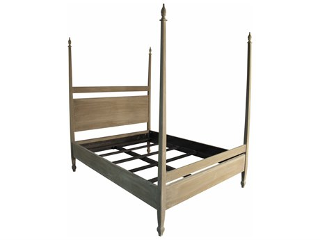 Noir Furniture Venice Weathered California King Poster Bed NOIGBED107CKWEA