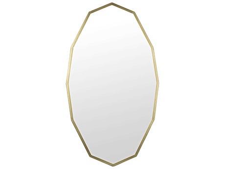 Noir Furniture Antique Brass Wall Mirror