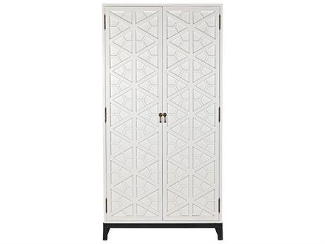 Noir Furniture Solid White Wardrobe Armoire NOIGHUT118SW