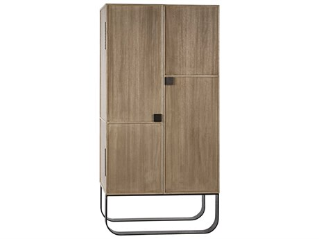 Noir Furniture Washed Walnut Wardrobe Armoire NOIGHUT144WAW