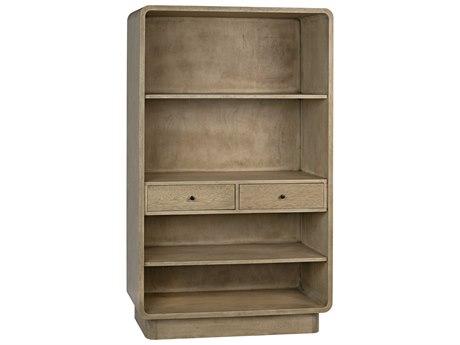 Noir Furniture Bleached Walnut Bookcase