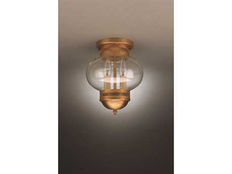 Northeast Lantern Onion Two-Light Outdoor Ceiling Light NL2034G