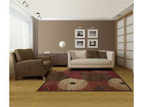 Nourison Graphic Illusions Rectangular Brown Area Rug