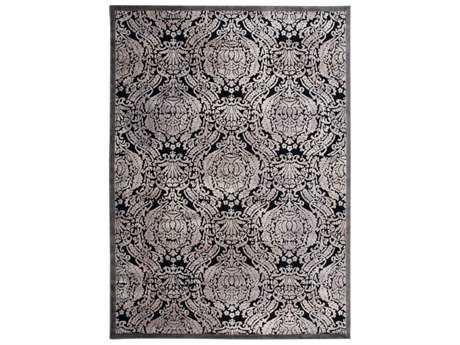 Nourison Graphic Illusions Rectangular Black Area Rug