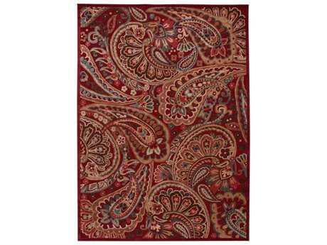 Nourison Graphic Illusions Rectangular Red Area Rug