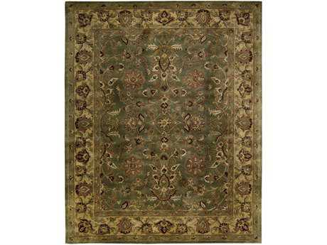 Nourison Jaipur Rectangular Green Area Rug