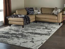 Maxell Ivory & Grey Rectangular Area Rug