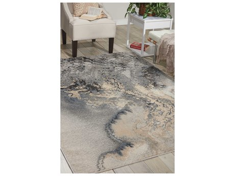 Nourison Maxell Grey Rectangular Area Rug