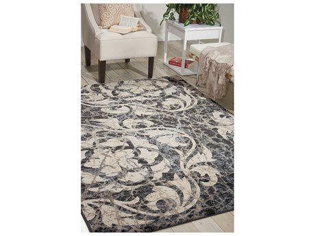Nourison Maxell Ivory & Charcoal Rectangular Area Rug