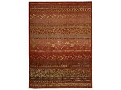 Nourison Radiant Impression Rectangular Crimson Area Rug