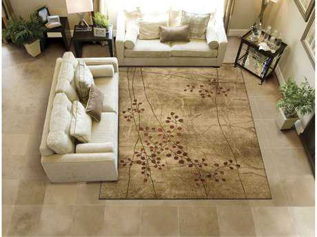 Nourison Somerset Rectangular Latte Area Rug NRST74LAT