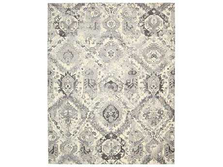 Nourison Twilight Rectangular Ivory Grey Area Rug
