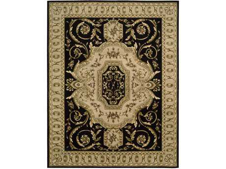 Nourison Versailles Palace Rectangular Black Area Rug